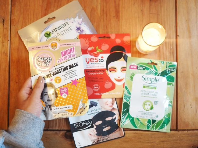 Testing sheet masks: 5 favourites under £5: ChoeDangerfield.com